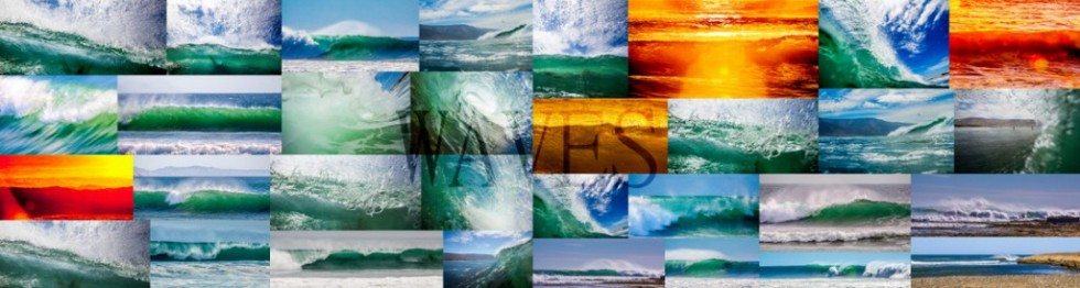 Collage of wave photos