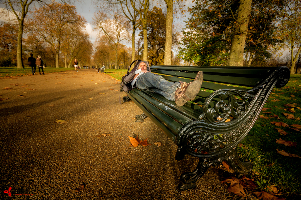 Sometimes a park bench will just have to do.