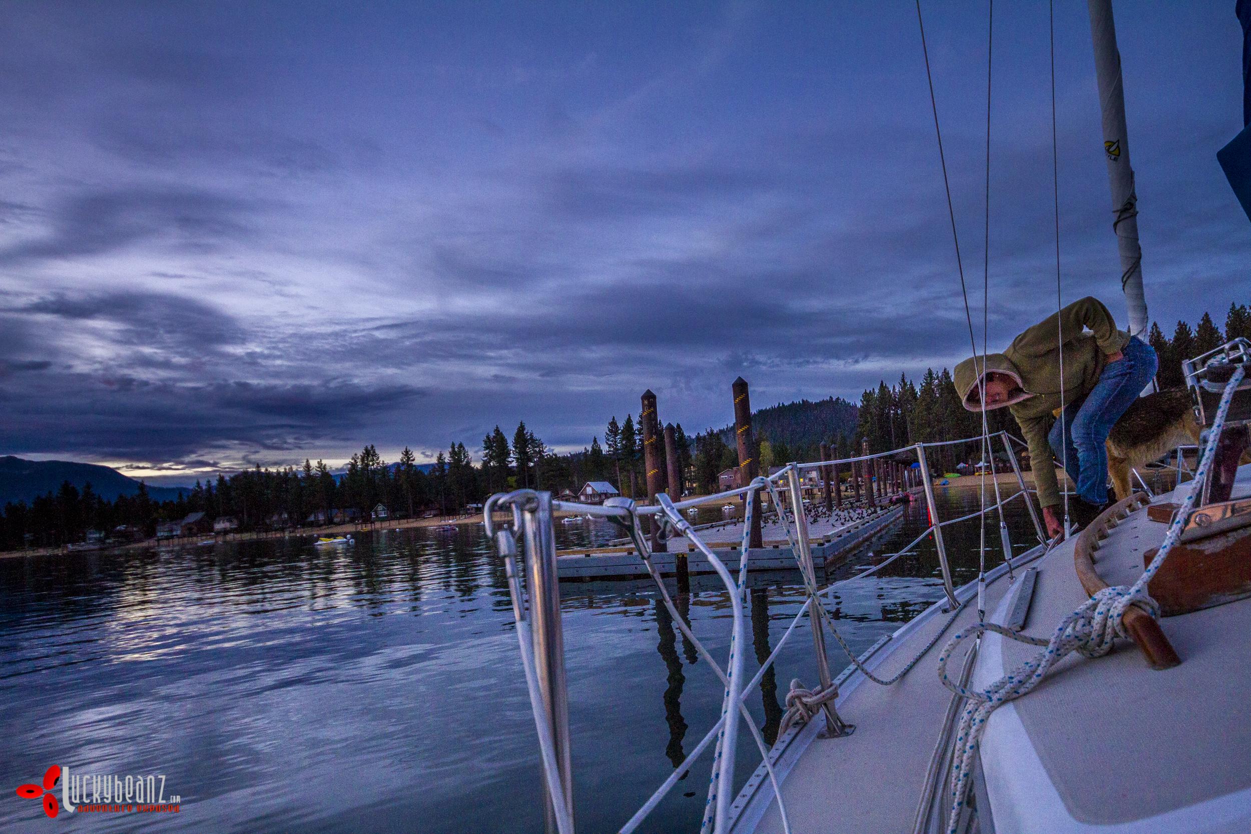Heading to dock.