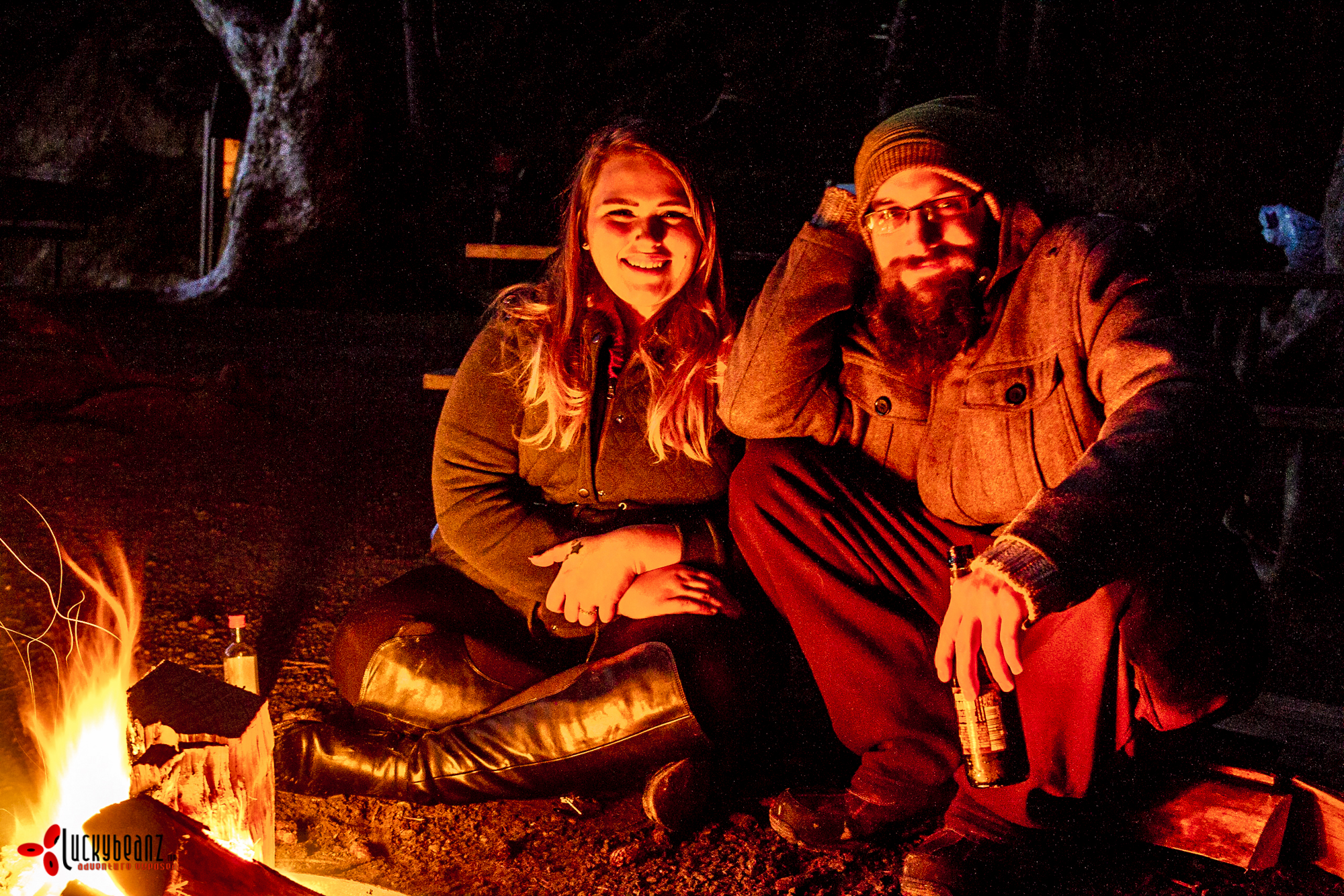 Meeting new friends and sharing their fire.