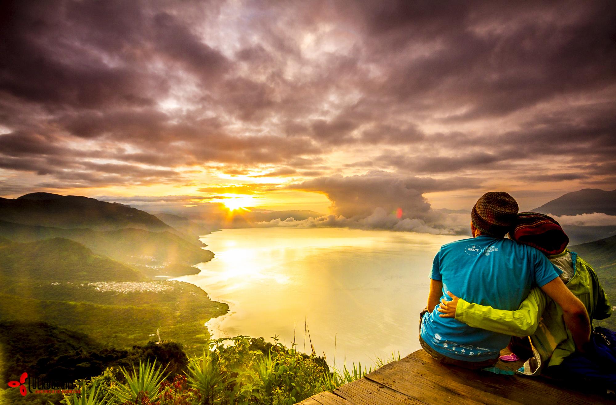 Sharing a splendid sunrise after a 3am rise.