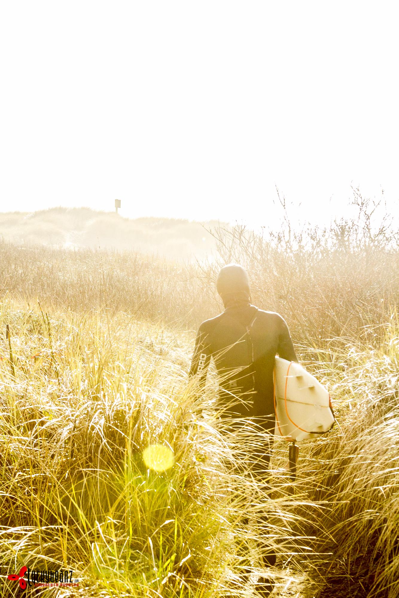 Sunset surf in Oregon.
