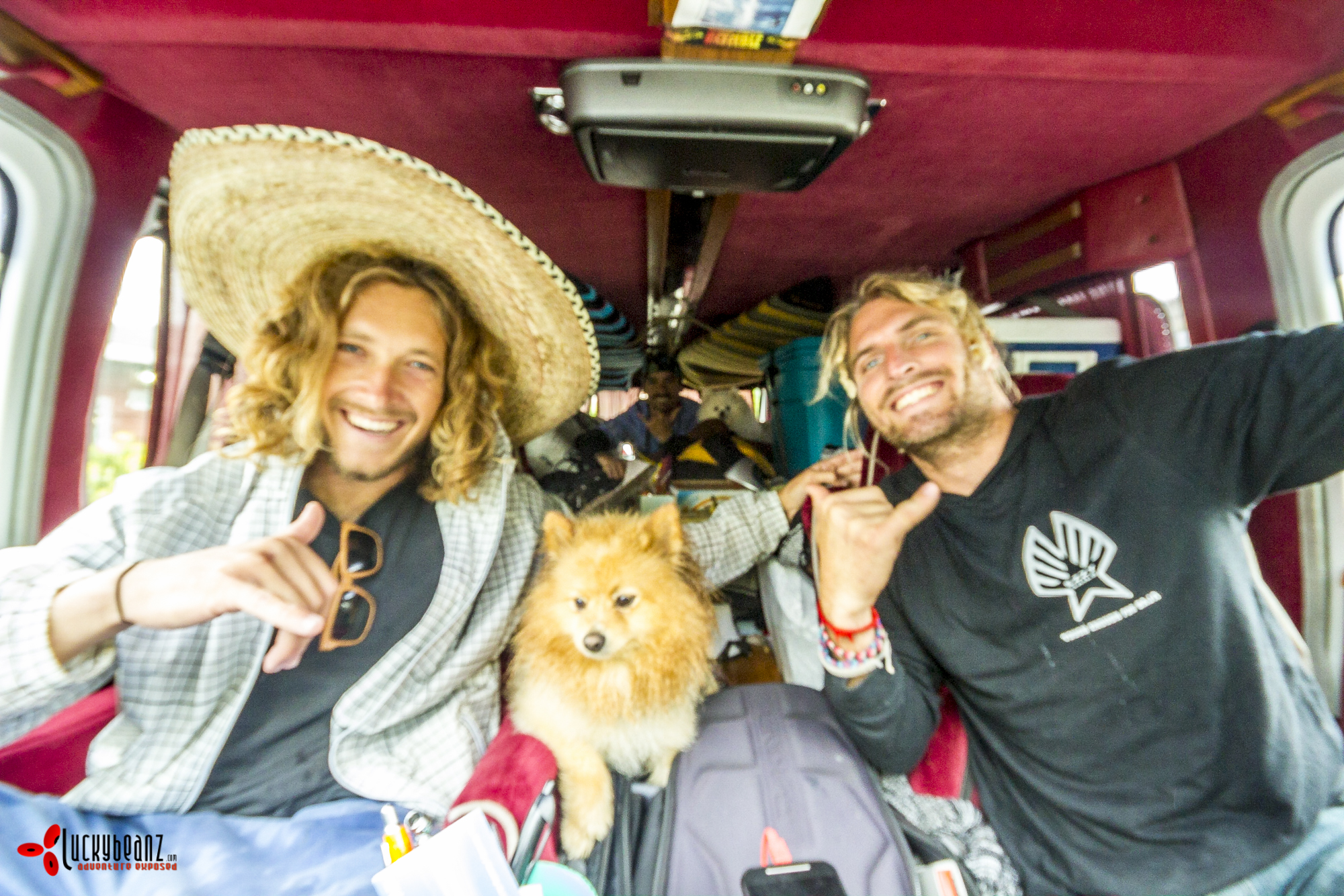 Van loaded and ready for Scorpion Bay.