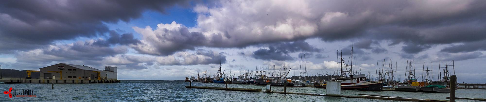 A rare rain free moment in Neigh Bay.