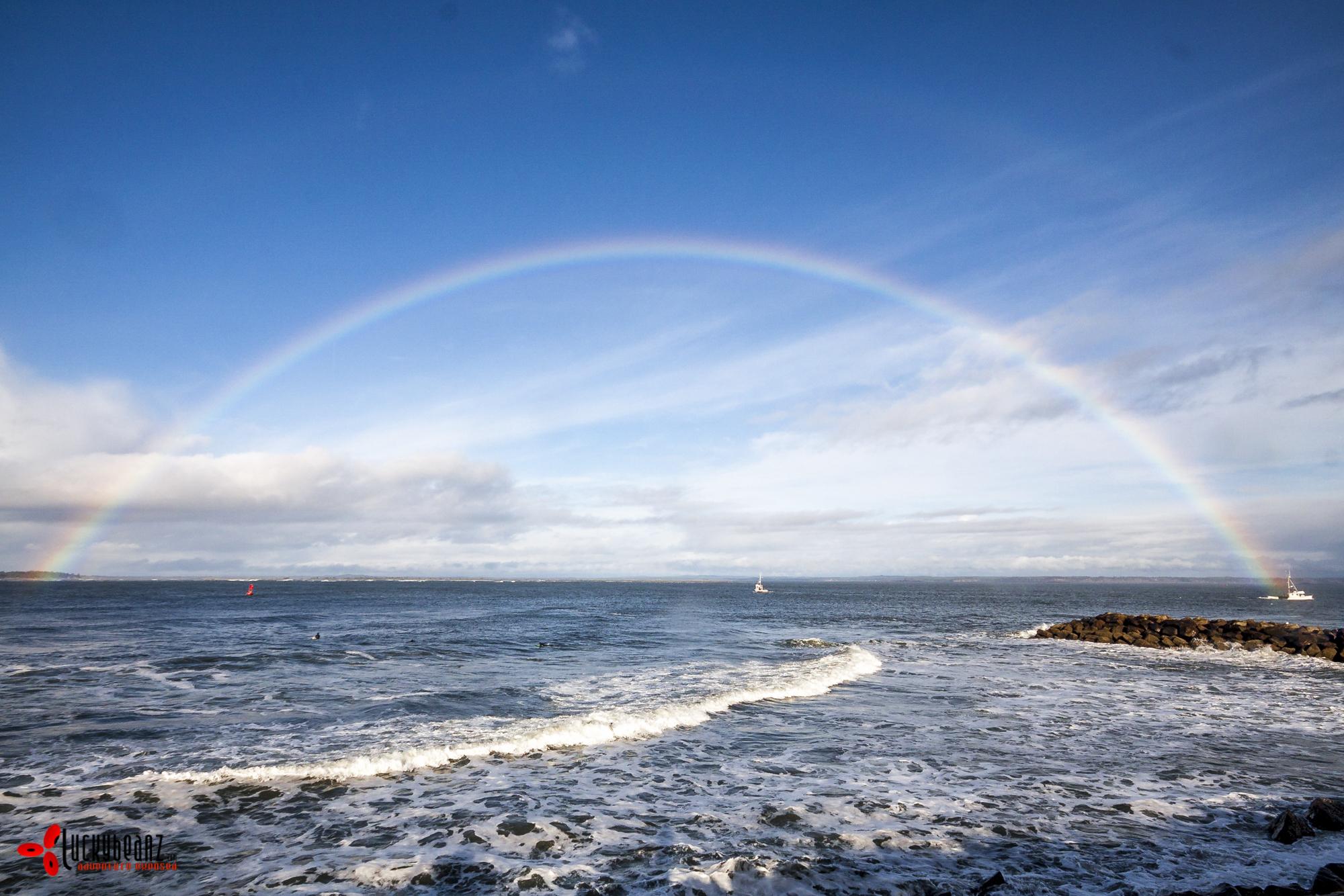 Creating rainbows.